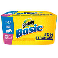 Bounty Basics Select-A-Size Paper Towels (12 rolls)