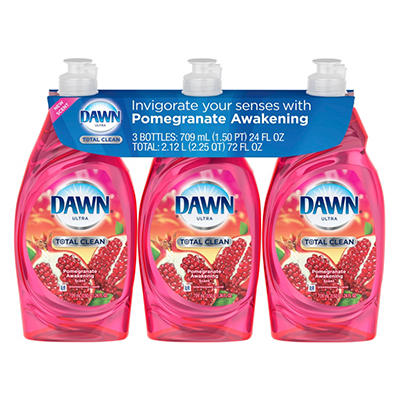Dawn Ultra Total Clean, Pomegranate Awakening - 24 fl. oz., 3 pk.