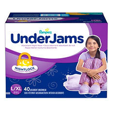 Pampers UnderJams Absorbent Night Wear, Girls (Choose Your Size)