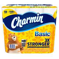 Charmin Basic 1-Ply Toilet Paper (48 giant rolls)