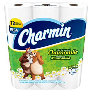 Charmin Plus the Scent of Chamomile (12 mega rolls)