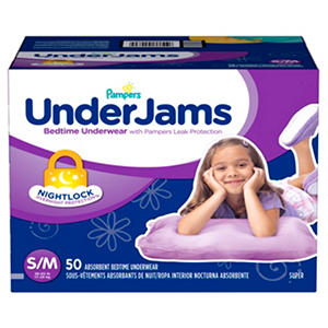 Pampers UnderJams Bedtime Underwear for Girls (Choose Your Size)