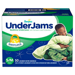 Pampers UnderJams Bedtime Underwear for Boys (Choose Your Size)