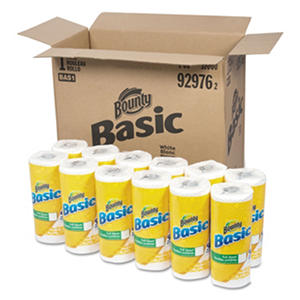 Bounty Basic Paper Towels, 10.19 x 10.98, 1-Ply (44 sheets per roll, 30 rolls per carton)