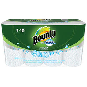Bounty Paper Towels with Dawn Detergent (8 large rolls)