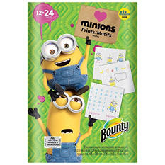 Bounty Paper Towels, Minions Prints (12 Double Rolls)