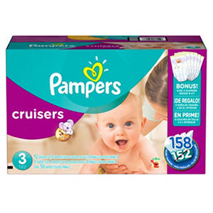 Pampers Cruisers Diapers, Size 3 (16 to 28 lbs.) 158 ct.