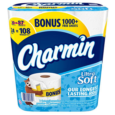 Charmin Ultra Soft Bonus Pack (24 rolls)