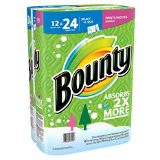 Bounty Select-a-Size Paper Towels with Prints (12 double rolls, 140 sheets)