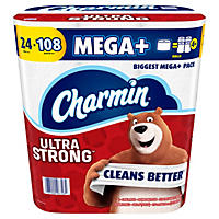 Charmin Ultra Strong Super Mega Tissue (24 rolls)