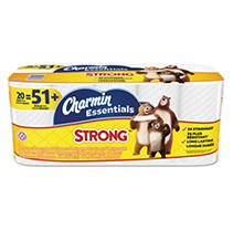 Charmin® Essentials Strong Bathroom Tissue, 1-Ply, (300 sheets per roll, 20 rolls per pack)