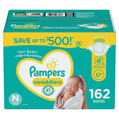 The diaper box should recommend a size related to your baby's age and weight. You can ask a fellow parent to loan you a diaper to try out on your baby if you are unsure of his or her size. When it comes to the style of diaper you want, there are many choices. You can buy diapers with tape or Velcro fasteners.