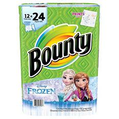 Bounty Select-A-Size Frozen Prints Paper Towels (12 double rolls, 126 sheets)