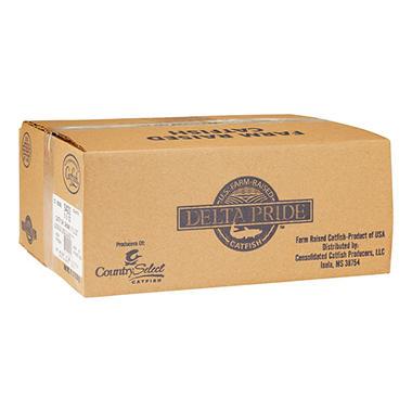 Delta Pride Catfish Fillets - 3-5 oz. fillets - 15 lb. case