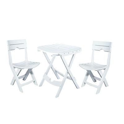 Quik-Fold Café Set - White