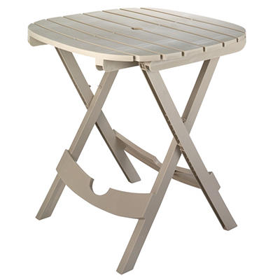 Quik-Fold Cafe Table - Desert Clay