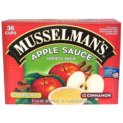 Musselman's Apple Sauce Variety Pack - 4 oz. - 36 ct.