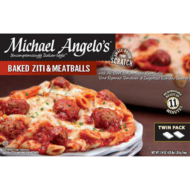 Michael Angelo's® Baked Ziti & Meatballs - 34 oz. - 2 ct.