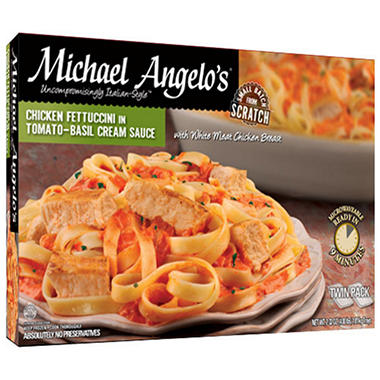 Michael Angelo's Chicken Fettuccini in Tomato-Basil Cream Sauce - 32 oz. trays - 2 pk.
