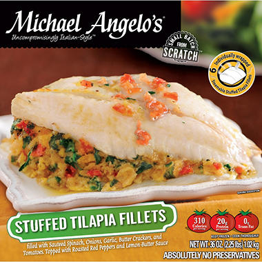 Michael Angelo's Stuffed Tilapia Fillets - 6 oz. each - 6 pk.