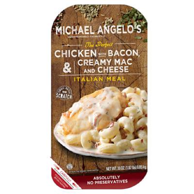 Michael Angelo's Chicken Bacon with Creamy Mac & Cheese (30 oz. pks., 2 ct.)