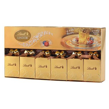 Lindt Lindor Holiday 6 Favors Set