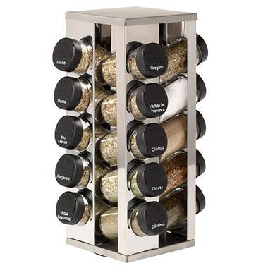 Kamenstein 20 Jar Rotating Spice Rack