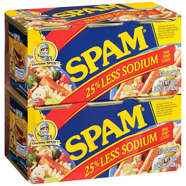 Hormel Spam, 25% Less Sodium (12 oz., 6 pk.)