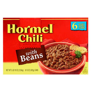 Hormel Chili with Beans (15 oz. can, 6 ct.)