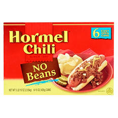 Hormel Chili, No Beans (15 oz. can, 6 pk.)
