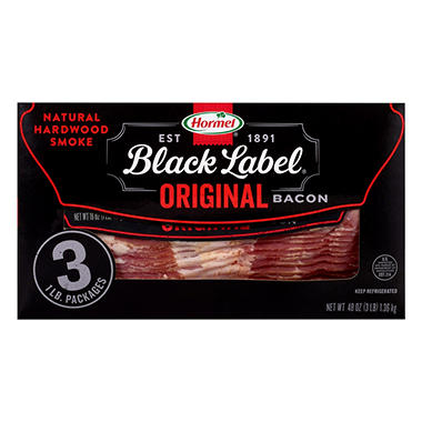 Hormel Black Label Original Bacon (1 lb, 3 pk.)
