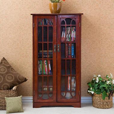 Cherry Media Storage Cabinet