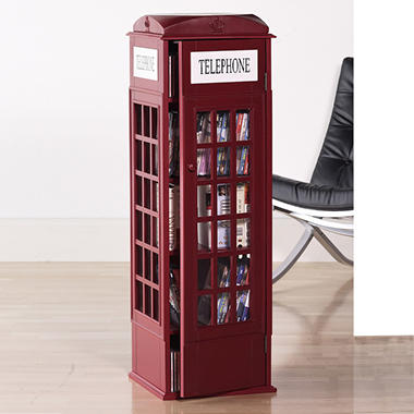 Phone Booth Media Storage Cabinet