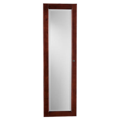 """Hideaway"" Wall Mount Jewelry Mirror - Cherry"