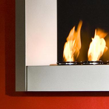 Brushed Metal Wall Mount Fireplace