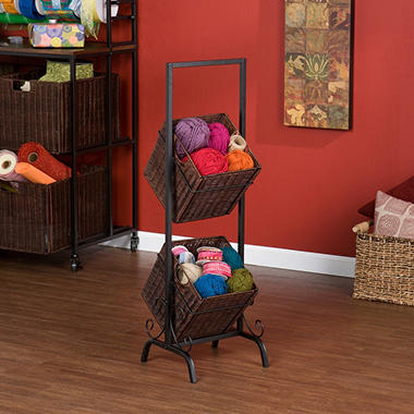 Craft Room 2 Basket Floor Rack