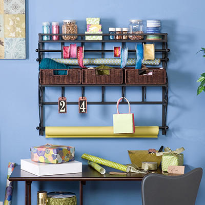 "Craft Room 35"" Wall Rack"