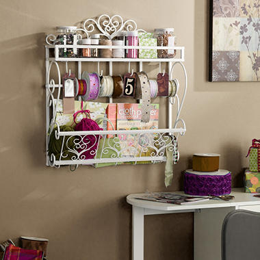 "Craft Room 25"" Wall Rack"