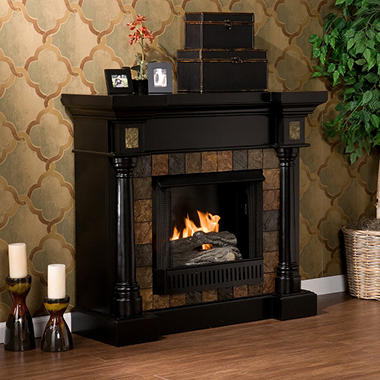 Mirage II Gel Fuel Fireplace - Black