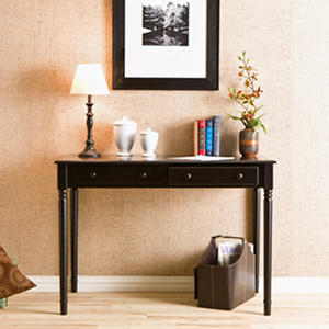 Scripts Black 2-Drawer Writing Desk