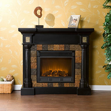 Mirage II Electric Fireplace - Black
