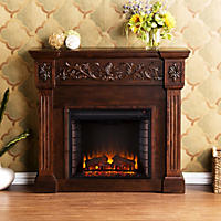 Del Ray Electric Fireplace - Espresso