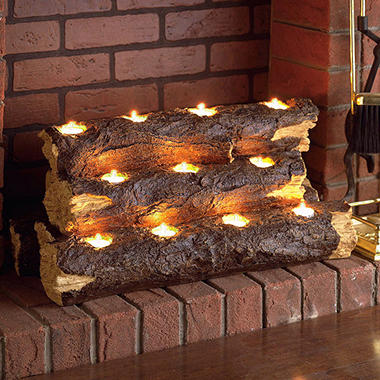 Tea Light Fireplace Logs