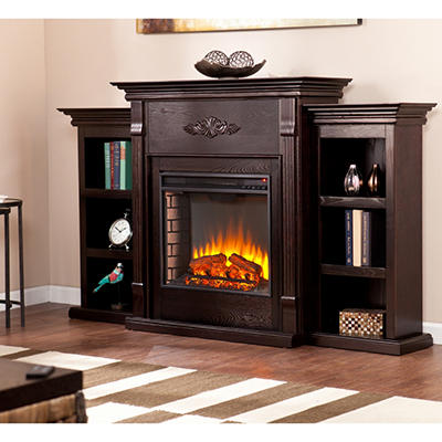Emerson Electric Fireplace - Espresso