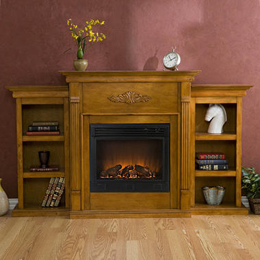 Emerson Electric Fireplace - Plantation Oak.