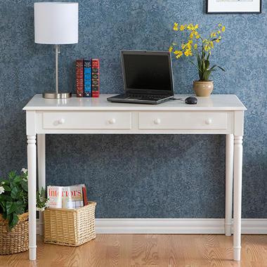 Script's White 2 Drawer Writing Desk