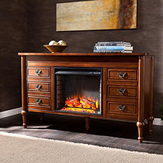 Franklin Electric Fireplace - Whiskey Maple