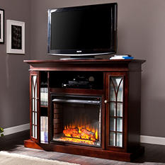 Esquire Media Console Fireplace - Espresso