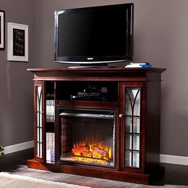 Esquire Media Console Fireplace - Espresso