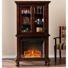 Sophia Curio Fireplace - Espresso